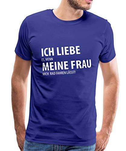 Ich Liebe Meine Frau Rad Fahren Spruch Männer Premium T-Shirt, S, Königsblau