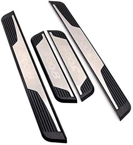 YSTC Estribos de Coche de Acero Inoxidable para Peugeot 3008 2018-2021, Pegatinas de Protección Antirrayas, Puerta Pedal de Bienvenida, Door Sill Kick Plates, 4Pcs