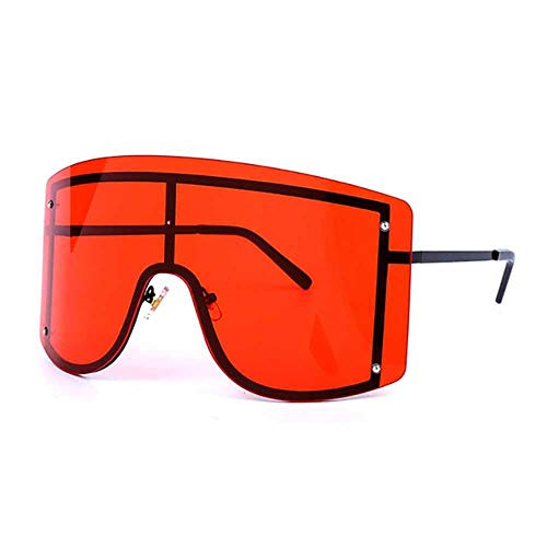 Gafas sol gran tamaño sin montura lujo gafas sol