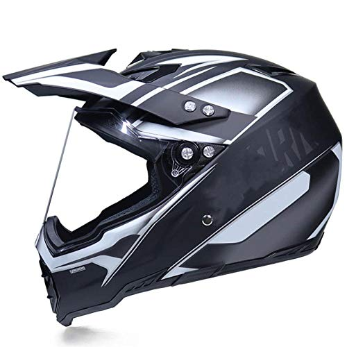 Motocross Rallye Lens Anti-UV veiligheidshelm voor motorfiets snelweg integraalhelm XL Silver force