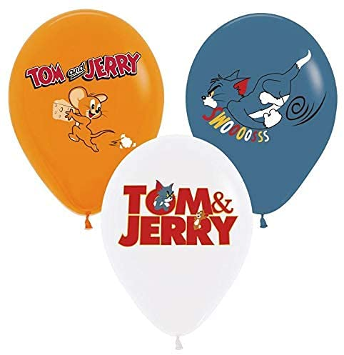 12pcs balloons the TOM and Jerry mouse cat movie ,Tom and Jerry Birthday Party Decortions and Supplies for Boys and Girls Includes Birthday Banner