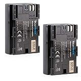2x Blumax Gold Battery - Batería compatible con Canon LP-E6