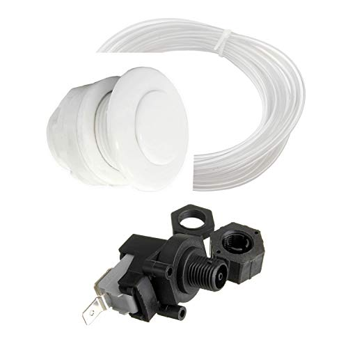 Interruptor neumático de 2,54 cm (1 ') AG, interruptor por onda de presión 230 V 16 A, manguera de 5 m 3 mm DI