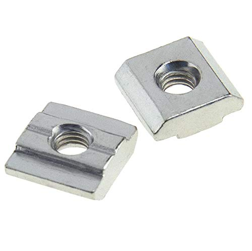 Binzzo T Nuts Tee Sliding Slot Nuts 30 Series M5 Threaded Slide in Pre-Assembly for 30x30 Aluminum Extrusions Frame with Profile 3030 Sereis 8mm Slot for CNC Router Build Rail 3D Printer 12Pcs