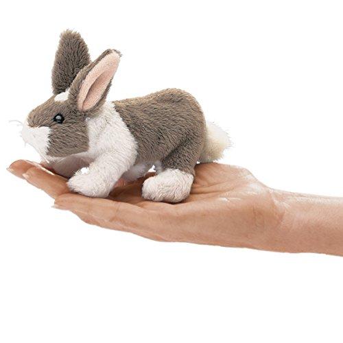 Folkmanis Mini Bunny Rabbit Finger Puppet, Multicolor, 1 EA