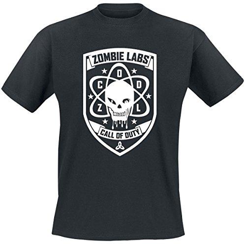 Call Of Duty black Ops III - Zombie Labs T-Shirt schwarz - Schwarz, Herren, S