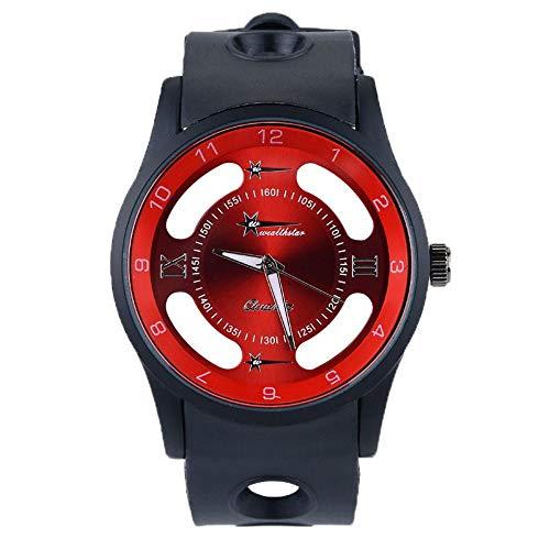 Herrenuhren Herren,Kreative Mode Hohluhr Freizeitsport Geschäfts Uhr Der Männer Im Freien Quarz Uhr Gules