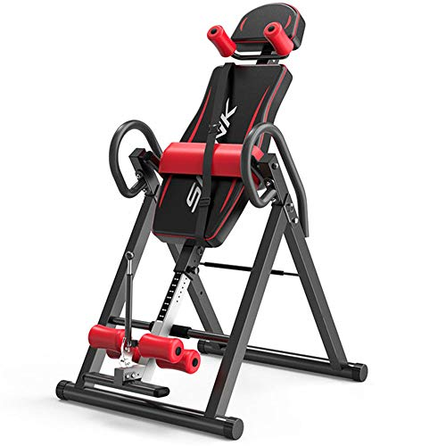Great Features Of ASDFGHJKL Household Heavy Duty Inversion Table Back Stretching Machine Adjustable ...