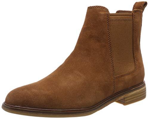 Clarks Damen Clarkdale Arlo Chelsea Boots, Braun (Dark Tan Suede), 40 EU