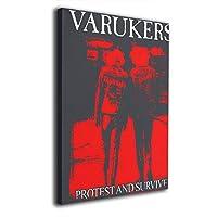 絵画 ポスター 30 * 40 Cm The Varukers Survive ヴァルカーは生き残る ポスター おしゃれ インテリア 壁飾り 飾り絵 アートフレーム アートパネル おしゃれ お風呂の装飾 キャンバスアート アート油画 パネル ャンバス 軽くて取り付けやすい