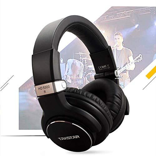 ZENWEN Kopfhörer Computer Karaoke Musik Wertschätzung Produktionscomputer Monitor Notebook Kopfhörer 3,5 mm Kabel Bass Stereo-Spiel ESPO RTS-Mikrofon (schwarz)