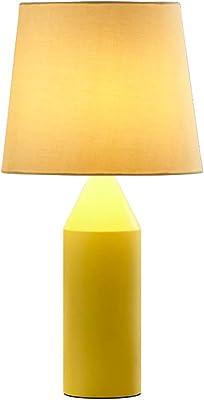HLQW テーブルランプベッドルームシンプルな現代北欧マカロン創造的な暖かいベッドサイドランプヨーロッパの結婚式の結婚式のベッドサイドキャビネットランプ (Color : Yellow)