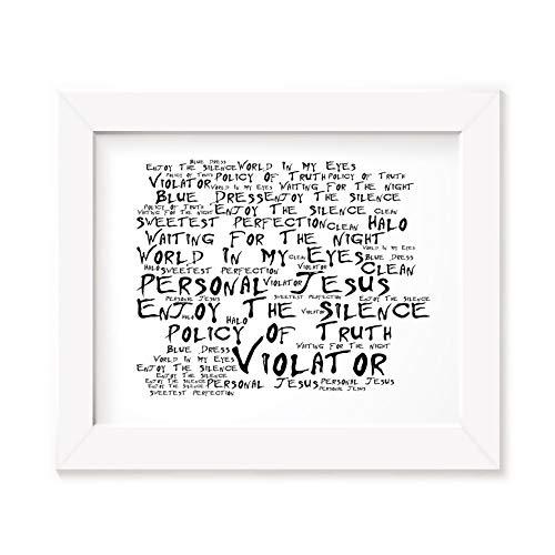 Depeche Mode Poster Affiche d'art - Violator - Edition signée et numérotée limitée Typographie Non encadré 20 x 25 cm la Musique Album Mur Art Haute qualité d'impression