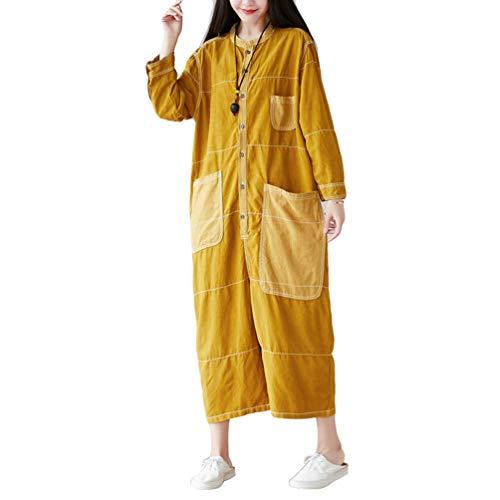Yuandian Mujer Petos De Pantalon Vaquero Casual Baggy Pierna Ancha Mono Jeans Denim Ancho Mono Pantalon Señora Boyfriend Monos Tejanos