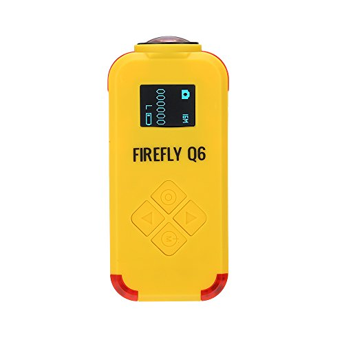 Accrie Drone Helicopters Firefly Q6 4K HD FPV Aerial Camcorder 120 Wide Angle Action Camera for ZMR250 QAV250 210 QAV180 Racing Drone Yellow