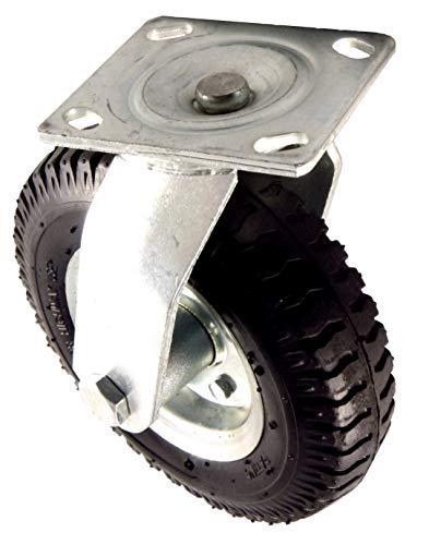 EXCOLO Lenkrolle Rad Ø 220mm, Höhe 260 mm 135kg auf Luftbereift mit Stahlfelge in Silber für Schubkarre...