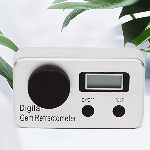 Digital Gem Refractometer 1.4-2.0 Aluminum Alloy RI Gemstone Gemology Gemological Diamond Tool