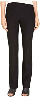 Eileen Fisher Washable Stretch Crepe Black Slim Boot Cut Pants 1X