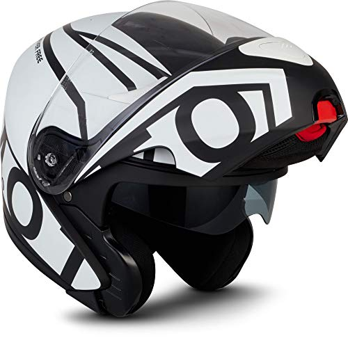 "Moto Helmets® F19 ""Runner Black"" · Motorrad-Helm · Klapp-Helm Modular-Helm Flip-up Integral-Helm Motorrad-Helm Roller-Helm Sport · ECE 22.05 Sonnenvisier Schnellverschluss Tasche L (59-60cm)"