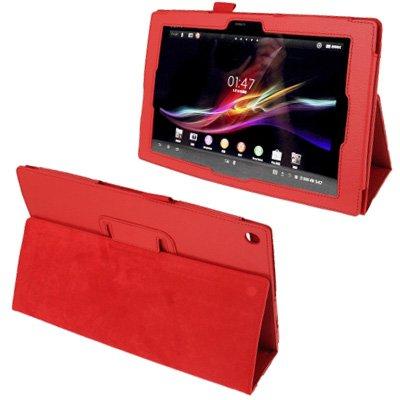 GHFPCASE Funda de Cuero de Textura de Litchi con Soporte para Sony Xperia Tablet Z / 10.1 GHFPCASE (Color : Red)