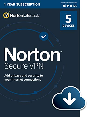 Norton Secure VPN 2021 for up to 5 Devices (Download)
