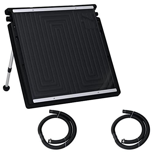 vidaXL Panel Calefactor Solar para Piscina Sistema de Calefacción Calentador Agua Caliente Sol de Energía Ecológica Ángulo Ajustable 75x75 cm