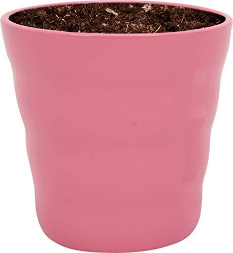 WLplants Keramik Blumentöpfe Rosa für drinnen & draußen, Pflanzentöpfe ∅ 13cm x ↕ 13cm