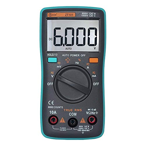 WY-YAN Científico Digital portátil multifunción multímetro ZT101 AC/DC probador Frecuencia Tensión Corriente Resistencia capacitancia Preciso