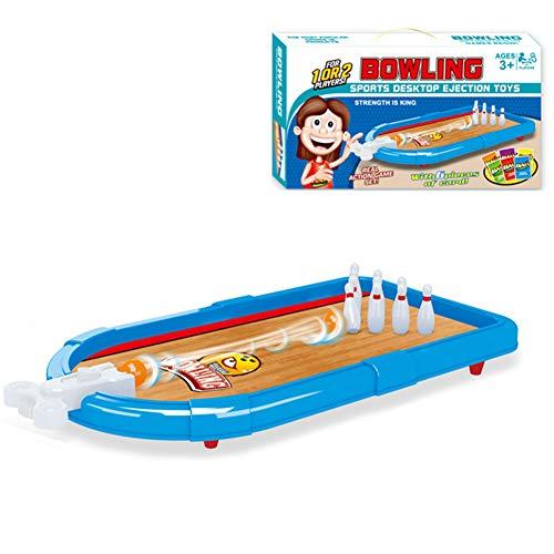 MAQLKC Bowling Spiele Sport Billardkugel Abrollrampe Queue Tisch Geschicklichkeitsspiel Freizeit Tischkegelspiel Tischkegelbahn Spielbrett Spielzeug Brettspiele
