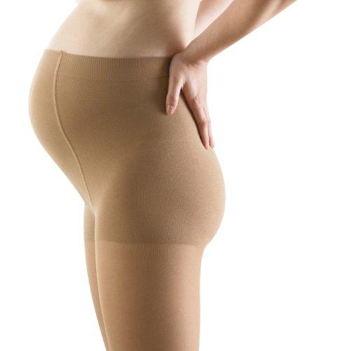 Bauerfeind VenoTrain Micro Moederschap Panty's 20-30 mmHg Compressie Kousen, Medium Normal Short, Karamel