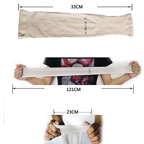 YINI Sonnenschutz Arm Sleeves Anti – UV Kühlung Multicolor Arm Ärmel für Fußball Angeln Radfahren Outdoor Aktivitäten für Frauen Männer Fingerless - 3