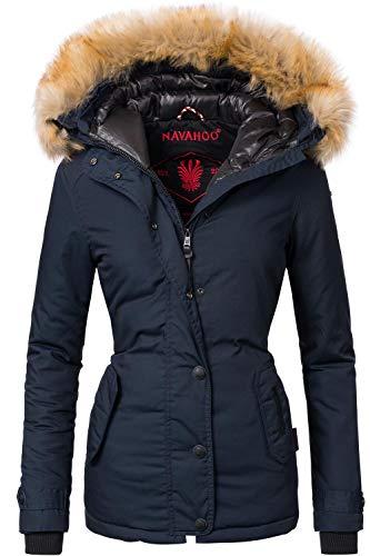 Navahoo Damen Winter Jacke Winterparka Laura Blau Gr. S