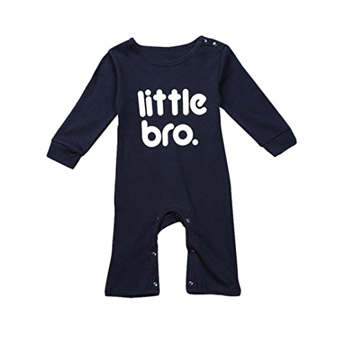 Ouneed® 0- 2 ans Bebe Grenouillères Imprime Manches Longues (80)