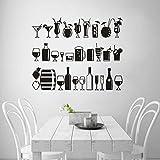 Vielzahl von Getränkesaft Vinyl Wandaufkleber Restaurant Bar Dekoration Alkohol Bar...