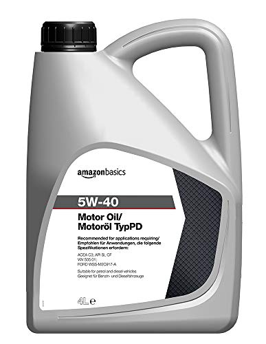 Amazon Basics – Motorenöl 5W-40 Typ PD, 4 l