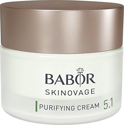 BABOR SKINOVAGE Purifying Cream, klärende Gesichtscreme für unreine Haut, porenverfeinernde Creme, gegen fettige Haut, beugt Hautunreinheiten vor, 1 x 50 ml