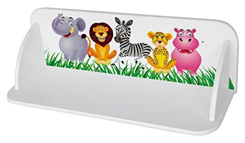 Leomark Etagere Sur le Mur Blanc Etagere Murales En Bois Motif: Animaux Jungle Lion d'éléphant Girafe Etagere D'Angle Suspendue Blanc Moderne Rangement Meuble de Rangement