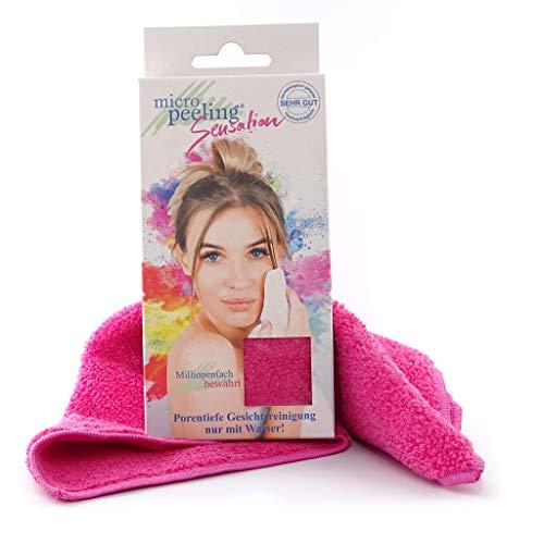 Micro Peeling Sensation Gesichtsreinigungstuch, Mikrofaser, pink, 25x30 cm