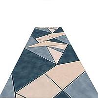 WEM カーペット回廊カーペットラグスーパーストア、ブルーベージュモダンウォッシャブル滑り止めキッチンユーティリティホールロングランナードアマットラグ-80/100/120 / 140Cm幅エクストラロング(サイズ:80X200Cm),A,140X600cm