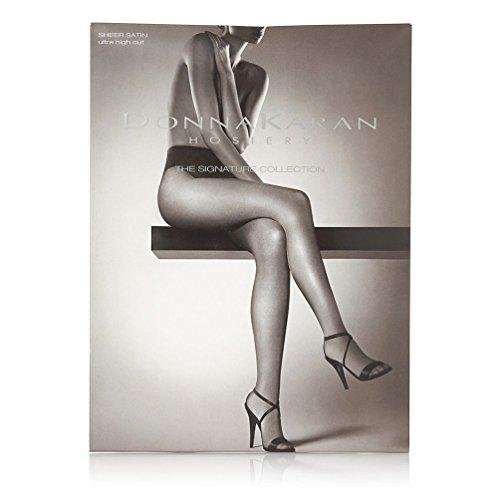 Donna Karan Satin Sheer Tanga Pantyhose 0B112, Buff, Plus Petite