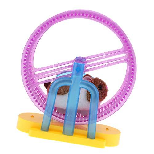 CUTICATE Plüsch Hamster Kuscheltier mit Laufrad, mit LED-Licht & Musik, Elektronische Haustier Spielzeug, Beste Geburtstagsgeschenke für Kinder