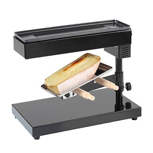 Raclette Ofen für ein ganzes Stück Käse - Raclette-Grill für 6-8 Personen - Standgerät mit 600 Watt - schwenkbarer Sockel Käseschmelzer mit verstellbarem Thermostat bis 240 C°