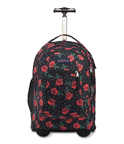 JANSPORT Driver 8 Rolling Backpack - Wheeled Travel Bag with 15-Inch Laptop Sleeve, Besty Floral, One Size