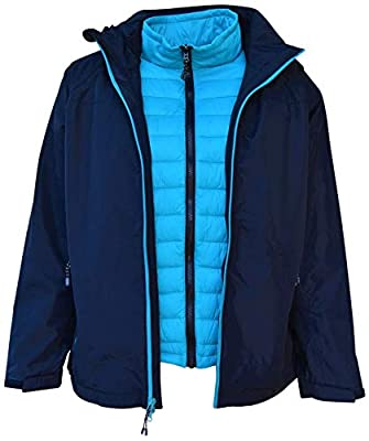 Pulse Womens Plus Size 3in1 Swiss Systems Snow Ski Jacket