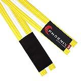 Phoenix Fight Gear BJJ Belt for Jiu Jitsu- A0, A1, A2, A3, A4, A5, White, Yellow, Orange, Purple, Blue, Green, Grey, Black (Yellow/White, A2)