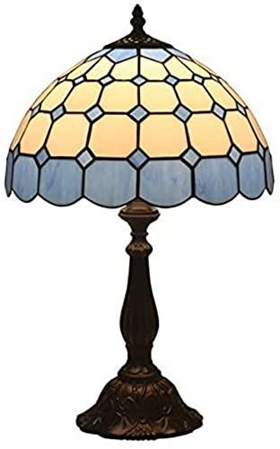 Wzglod Tiffany Lámpara de Mesa Retro Pastorale Creativo Dormitorio Noche Sala de Estar Restaurante Bar Café Lámpara de Mesa Decorativa Lámparas marroquíes