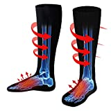 Rechargeable Electric Heated Socks,Men Women Battery Operated Heating Socks,Sports&Outdoors Winter Warm Thermal Heated Sock,Climbing Hiking Skiing Hunting Heated Soxs,Upgraded Foot Warmer,Black,Size L