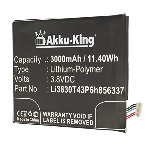 Akku-King Akku kompatibel mit BlackBerry Li3830T43P6h856337 - Li-Polymer 3000mAh - für Aurora, BBC100-1, ZTE Blade A602, S6 Lux Dual SIM, V Plus, V580