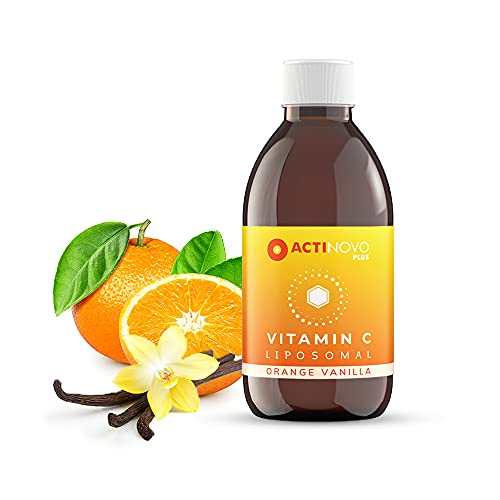 Vitamin C | Geschmack: Orange & Vanille | 25 Tagesdosen à 1000 mg Vitamin C | Vegan | 250 ml | Hochdosiert & laborgeprüft | 24h-Versorgung | Wirksamer als Pulver & Serum | Liposomal | Made in Germany