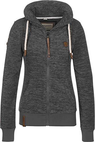 Naketano Female Zipped Jacket Redefreiheit Pimped Dirty Livid Grey Melange, XS